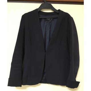 インディヴィ(INDIVI)のINDIVIのノーカラースーツジャケット(ノーカラージャケット)