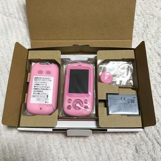エヌティティドコモ(NTTdocomo)のdocomo F-03J キッズケータイ ピンク 新品 キッズ携帯 ドコモ(携帯電話本体)