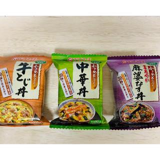 アサヒ(アサヒ)のアマノフーズ 小さめどんぶり3種(インスタント食品)