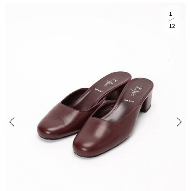 IENA(イエナ)の値下げ!k-spin ケイスピン イエナ スクエアトゥースリッパ レディースの靴/シューズ(ハイヒール/パンプス)の商品写真