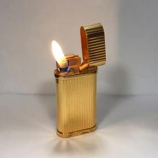 カルティエ(Cartier)のカルティエ ライター ゴールド ゴドロン 着火確認済み(タバコグッズ)