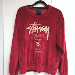 STUSSY - stussy ステューシー ベロアトップス