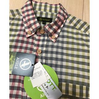 AIGLE - エーグル  AIGLE メンズチェックシャツ 半袖 新品未使用