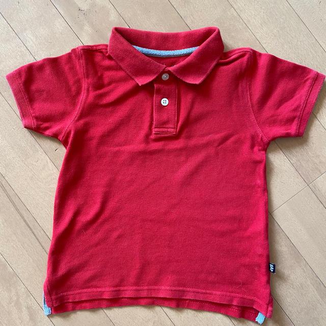 GAP(ギャップ)のギャップ キッズ ポロシャツ 95 赤ポロシャツ 半袖シャツ キッズ/ベビー/マタニティのキッズ服男の子用(90cm~)(Tシャツ/カットソー)の商品写真