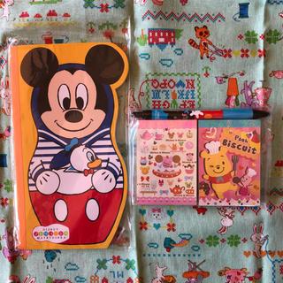 Disney - ディズニー メモ帳 マトリョシカ ミッキー  くまのプーさん