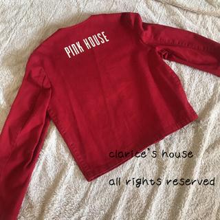ピンクハウス(PINK HOUSE)のPINK HOUSE ピンクハウス デニムジャケット Gジャン 赤 レッドレトロ(Gジャン/デニムジャケット)