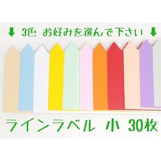◎30枚◎ 小 選べるカラー ラインラベル 園芸ラベル(その他)