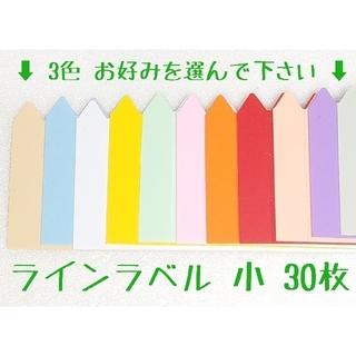 ◎30枚◎ 小 選べるカラー ラインラベル 園芸ラベル(プランター)