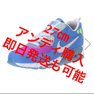 アンディフィーテッド(UNDEFEATED)の27.㎝ UNDEFEATED × NIKE AIR MAX 90  BLUE(スニーカー)