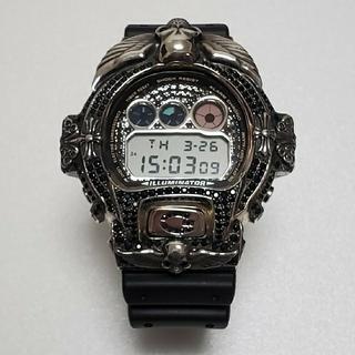 ジーショック(G-SHOCK)の美品 カスタム Gショック シルバー925 スカル ドクロ クロムハーツ系(腕時計(デジタル))