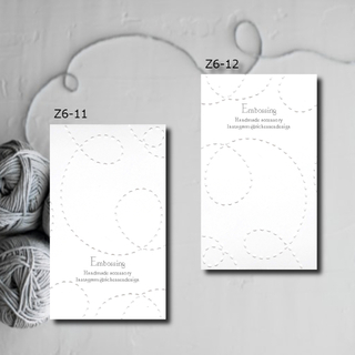 Z6-11/12【受付】エンボス加工 アクセサリー台紙 ショップカード50枚(カード/レター/ラッピング)