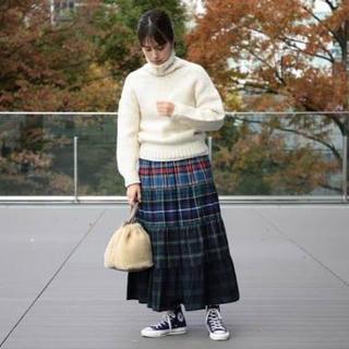 ビームスボーイ(BEAMS BOY)のBEAMS BOY/ネル タータンティアードロングスカート(ひざ丈ワンピース)
