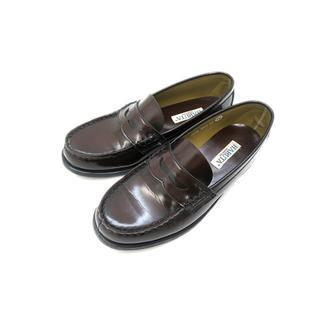 ハルタ(HARUTA)のハルタ レザー コインローファー ペニーローファー ブラウン 25cm(ローファー/革靴)