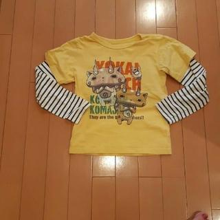 マザウェイズ(motherways)のマザウェイズmothersways妖怪ウォッチ黄×紺ボーダー柄長袖Tシャツ130(Tシャツ/カットソー)