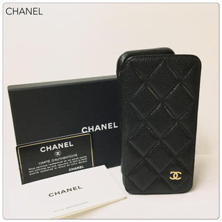 【美品】CHANEL シャネル キャビアスキン iPhoneX・Xs 携帯ケース
