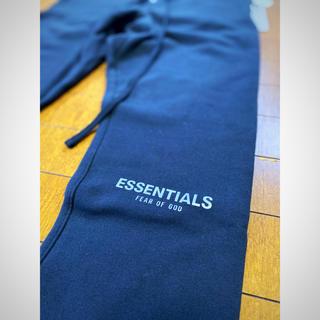 FEAR OF GOD - FOG ESSENTIALS Sweatpants BLACK Sサイズ