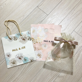 ポールアンドジョー(PAUL & JOE)のポール&ジョー ショップ袋 オーガンジー巾着袋セット 匿名配送(ショップ袋)