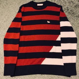 MAISON KITSUNE' - SALE メゾンキツネ バイカラー ニット セーター