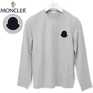 モンクレール(MONCLER)の4 MONCLER グレー ロゴワッペン クルーネック 長袖 Tシャツ M(Tシャツ/カットソー(七分/長袖))