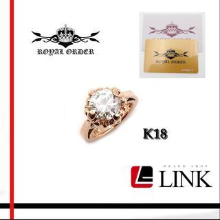 ロイヤルオーダー(ROYALORDER)のK18PG ロイヤルオーダー Royal Order ピンキーリング(リング(指輪))