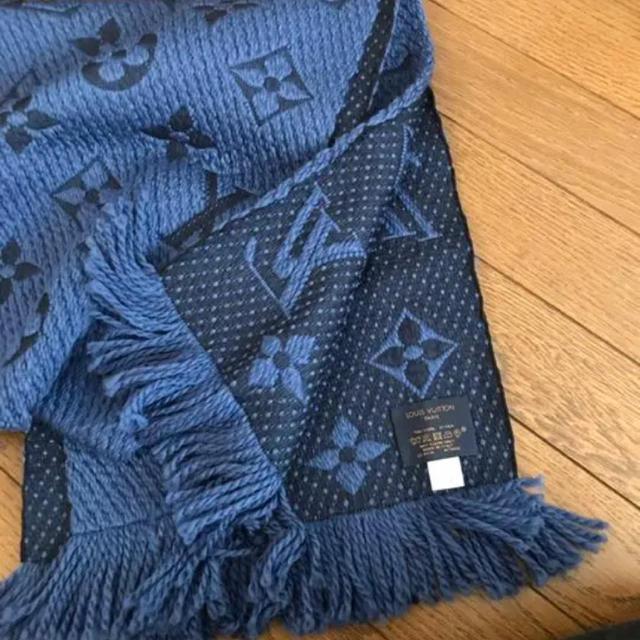 LOUIS VUITTON(ルイヴィトン)のLOUIS VUITTON ルイヴィトン マフラー ストール ブルー レディースのファッション小物(マフラー/ショール)の商品写真