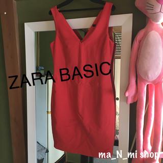 ザラ(ZARA)のZARA BASIC orangeワンピース(ミニワンピース)
