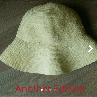 アナザーエディション(ANOTHER EDITION)のAnother Edition 帽子 麦わら帽子  折りたたみ(麦わら帽子/ストローハット)
