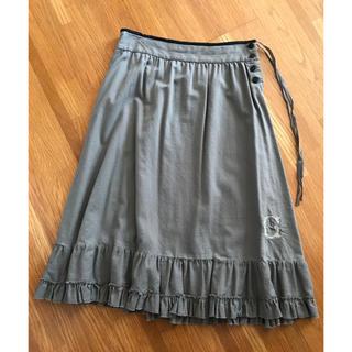 ネストローブ(nest Robe)のgasa 刺繍付きスカートフリル toujours nest robe(ロングスカート)