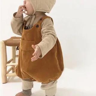 プティマイン(petit main)の韓国子供服 コーデュロイサロペット(カバーオール)
