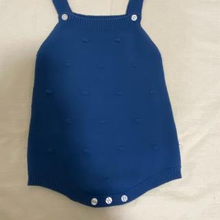 プティマイン(petit main)の韓国子供服 ニットサロペット(ロンパース)