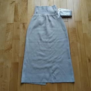 ラグナムーン(LagunaMoon)のハイウエストニットタイトスカート(ロングスカート)
