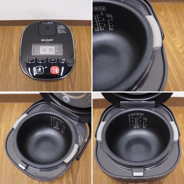 SHARP(シャープ)のシャープ ジャー炊飯器 3合炊 KS-C5L 1人暮し 単身 18年製 良品 スマホ/家電/カメラの調理家電(炊飯器)の商品写真