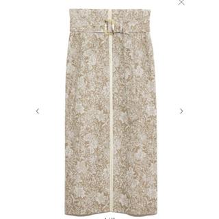 フレイアイディー(FRAY I.D)のジャガードペンシルスカート(ロングスカート)