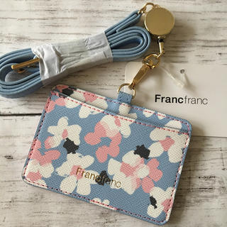 フランフラン(Francfranc)の新品⭐️アドラブル IDホルダー BL(パスケース/IDカードホルダー)
