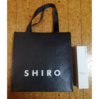 シロ(shiro)のshiro♡ショッパー*サボン オードパルファンの空き箱付き(その他)