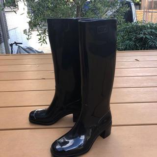 フルラ(Furla)のフルラ FURLA レインブーツ 長靴 黒ブラック サイズ36 3 23.0 M(レインブーツ/長靴)