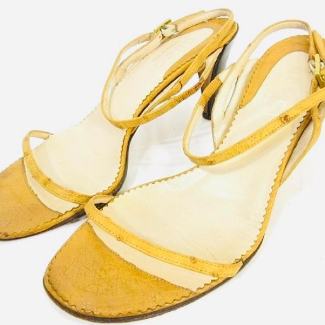 Gucci - グッチ GUCCI ストラップ サンダル ミュール パンプス レザー 靴 34 の通販