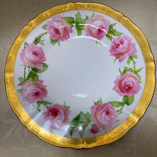 ミントン(MINTON)の【古ミントン】'' 印象主義/ピンクの薔薇 '' サイン入り 手描き ディナー皿(食器)