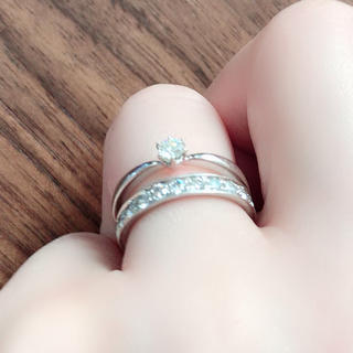 ヨンドシー(4℃)の4℃一粒ダイヤリング ♯10(リング(指輪))