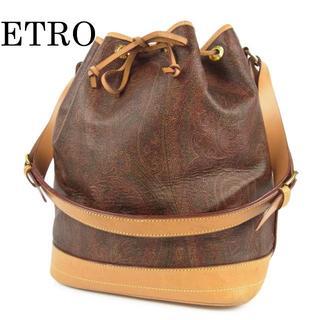 エトロ(ETRO)のエトロ ETRO ペイズリー柄 PVC×レザー 巾着式 ショルダー バッグ(ショルダーバッグ)