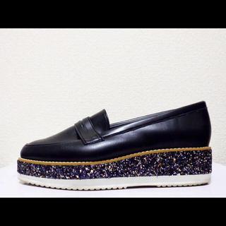ダイアナ(DIANA)の24.5cm*美品*DIANA ボリュームソール プラットフォーム ローファー(ローファー/革靴)