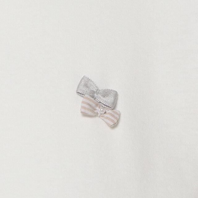 pom ponette(ポンポネット)のポンポネット新作タグ付きストライプティアードドッキングワンピース150~165 キッズ/ベビー/マタニティのキッズ服女の子用(90cm~)(ワンピース)の商品写真