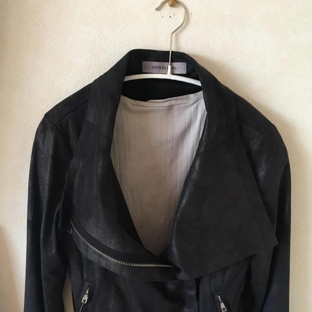 SPIRAL GIRL(スパイラルガール)のSPIRALGIRL ライダースジャケット レディースのジャケット/アウター(ライダースジャケット)の商品写真