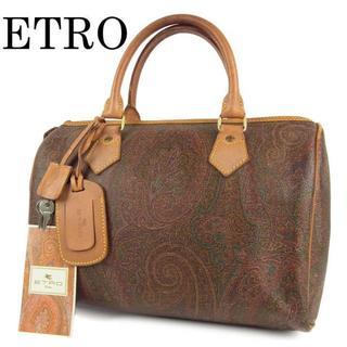 エトロ(ETRO)のエトロ ETRO ペイズリー柄 PVC×レザー ミニ ボストン ハンド バッグ(ハンドバッグ)