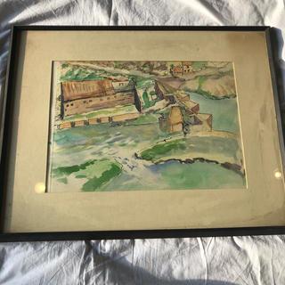 mina perhonen - 絵画 飯田正雄 新協美術協会 スペイン トレードの町の見える丘