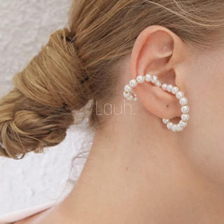 BEAUTY&YOUTH UNITED ARROWS - j328.double pearl ear cuff