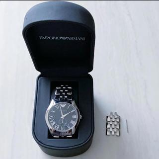 エンポリオアルマーニ(Emporio Armani)のアルマーニ 腕時計 シルバー×ブラック(腕時計(アナログ))