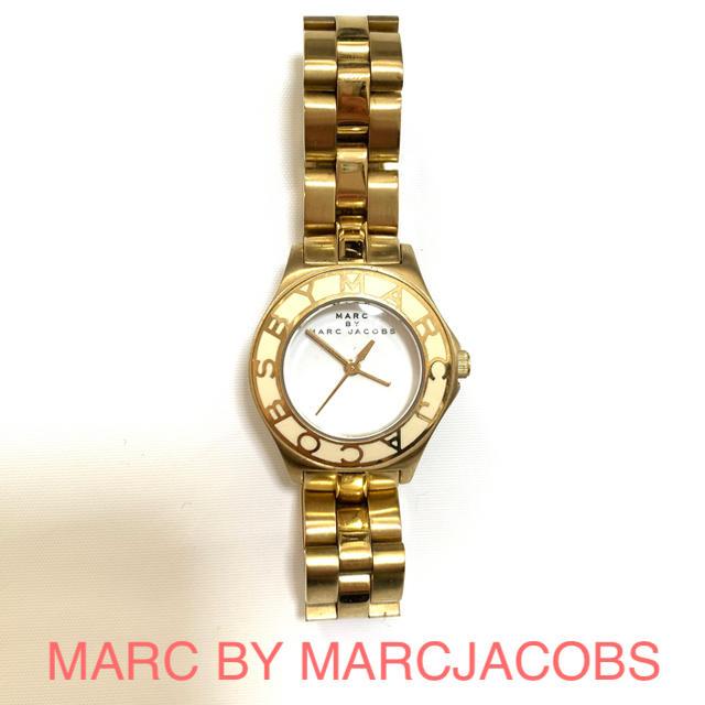 zeppelin 時計 激安メンズ 、 MARC BY MARC JACOBS - MARC BY MARC JACOBS 腕時計 ゴールド ホワイトの通販