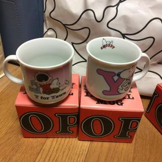 スヌーピー(SNOOPY)のSNOOPYロゴマグカップ(マグカップ)
