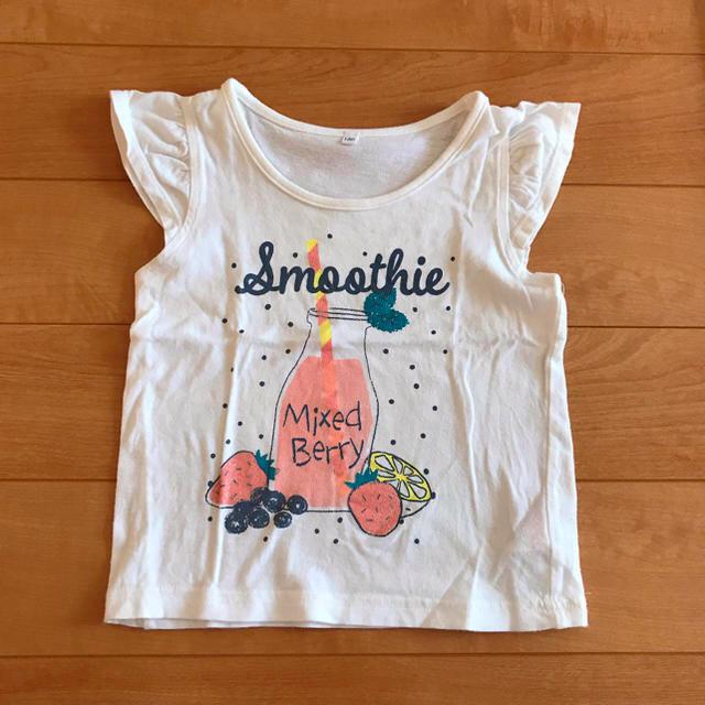 しまむら(シマムラ)のTシャツ キッズ/ベビー/マタニティのキッズ服女の子用(90cm~)(Tシャツ/カットソー)の商品写真